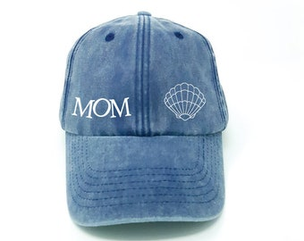 79ad17f1009 Low Profile Baseball Cap. Mom Gift. Mermaid Mom Hat. Mom Baseball Hat. Dad  Hat. Mama Hat. Mother s Day Gift. Momlife. Gift For Mom.