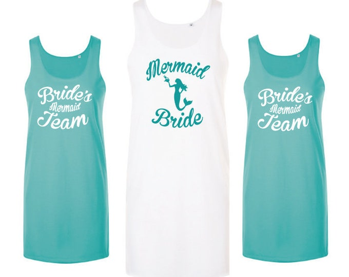 Featured listing image: Mermaid Bachelorette Party Dress | Beach Hen Party | Mermaid Bridal Shower |