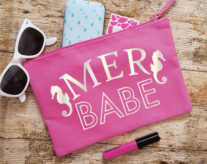 Featured listing image: MerBabe Makeup Bag - Pink