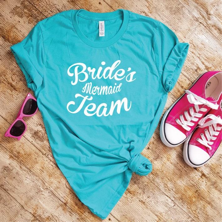 44fd8cf3 Mermaid Bachelorette | Bachelorette Shirts | Bachelorette Party Shirts | Mermaid  Bride | Team Mermaid | Hen Party Shirts | Mermaid Wedding