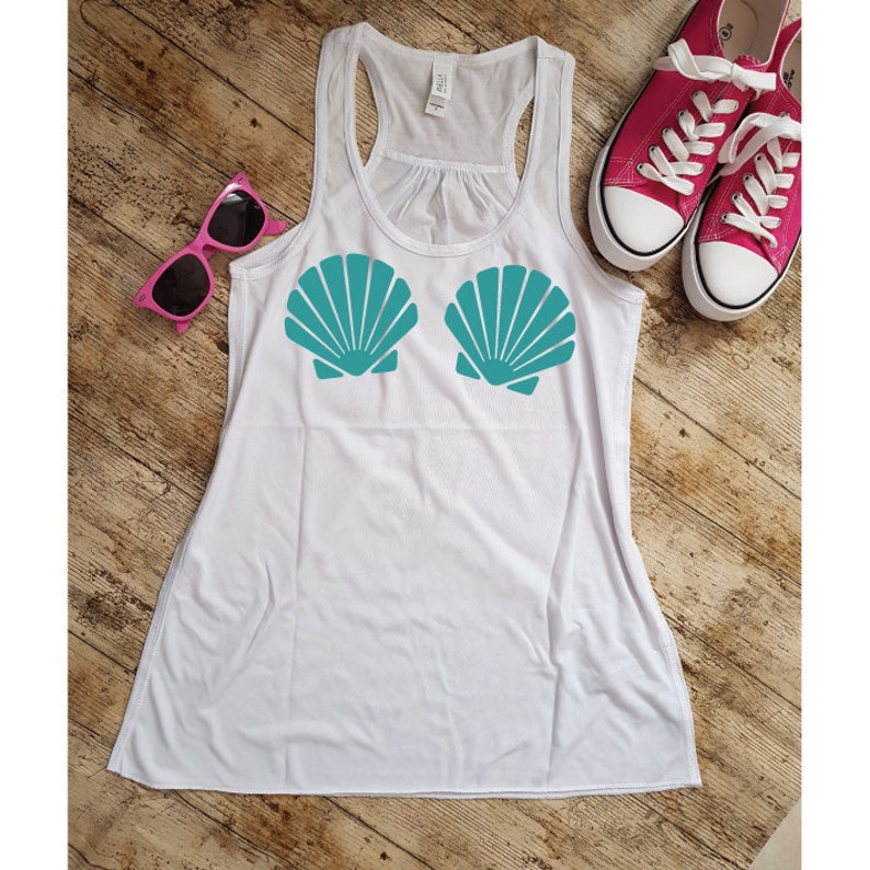 544f09f6a04c5 Mermaid Bra Seashell Tank Top. Mermaid Seashell Bra Top.
