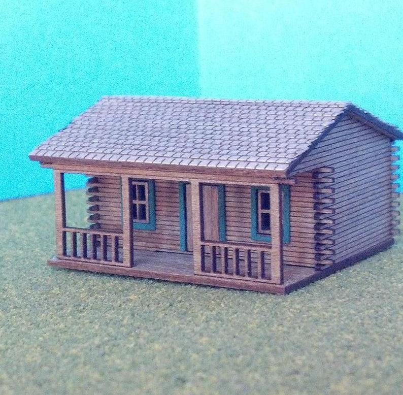 HO Scale Laser Cut Barlett Depot Building Kit Buildings