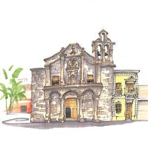 Dominican Republic Iglesia de Nuestra Senora del Carmen Santo Domingo PRINT
