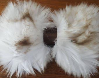 Arctic Fox Faux Fur Bow