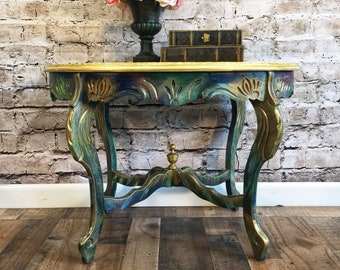 sold antique parlor side table - Antique Side Tables