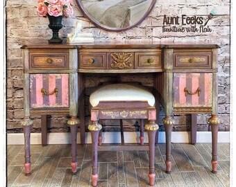 Antique three piece ladies vanity set / writing desk