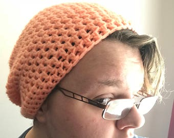 Slouchy Crochet Beanie, Made to Order