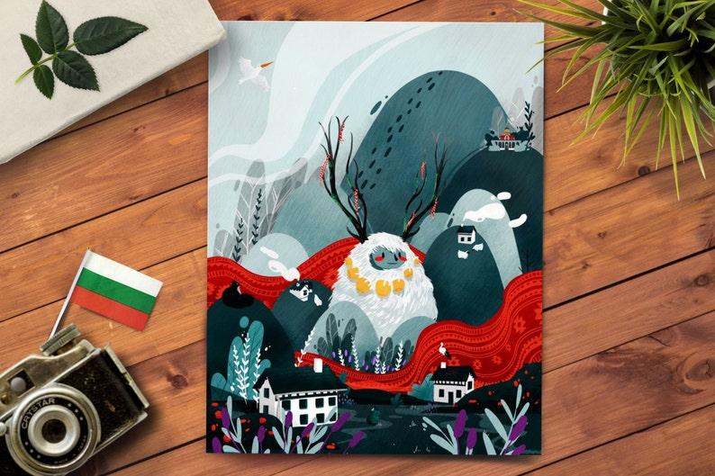 Scandinavian Illustration  Fantasy Illustration Print  image 0