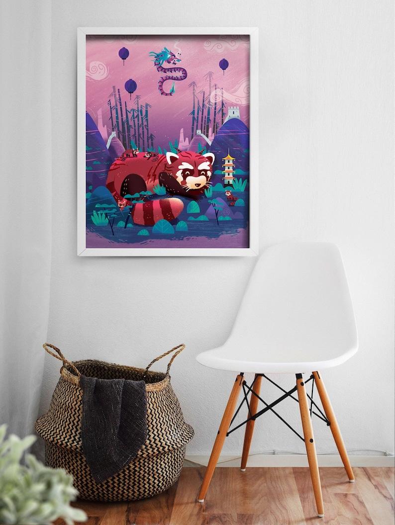 Red Panda Print  Nursery Decor  Red Panda Decor  Red Panda image 0