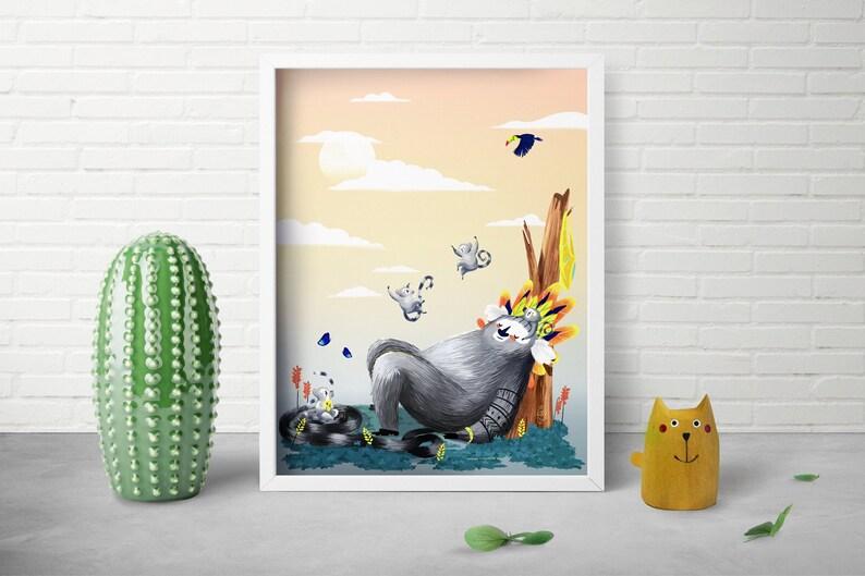 Outdoor Art Print  Whimsical Art Print  Nursery Room Decor  image 0