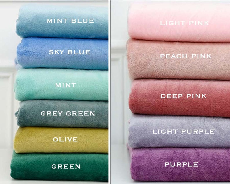 MINKY PLUSH Cuddle Fabric Soft Solid 19 colours by Yard image 0
