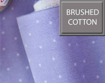 Brushed Cotton ,Warm Fabric, by Yard, Lavender Colour