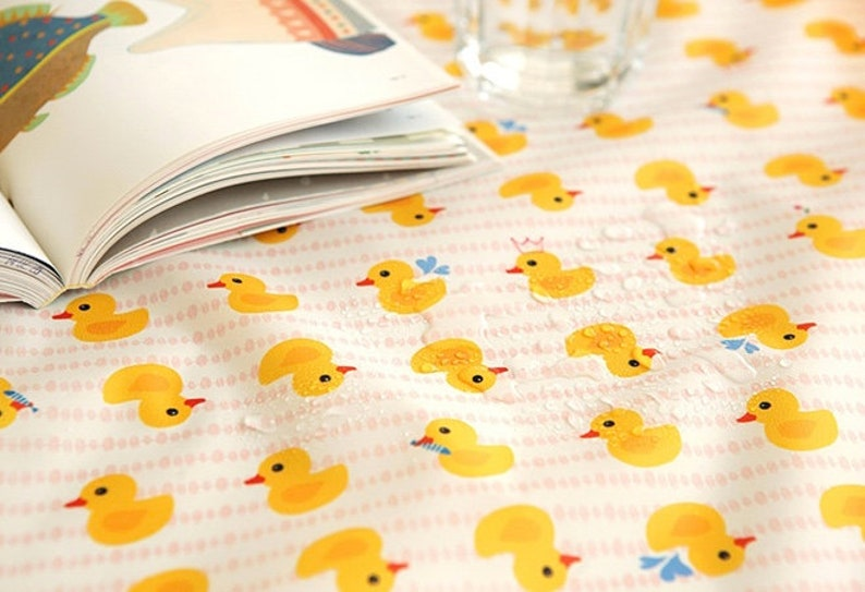 WATERPROOF AND UV 50+ Fabric 150cm Width Rubber duck by Yard