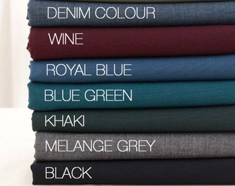 Classic Wool blend Fabric in 11 warm colours