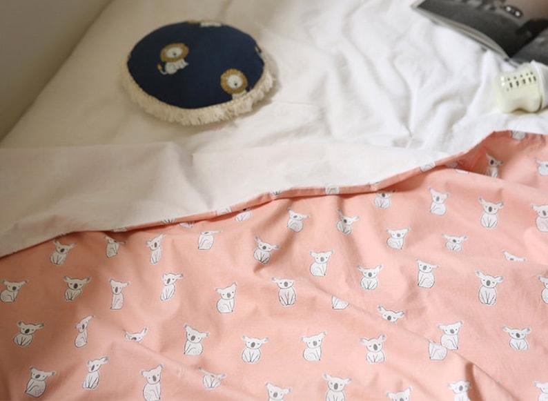 Certified Organic Cotton 100/% fabric Shy Koala by Yard