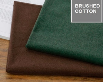 Brushed 10S Cotton fabric,  by Yard, 2 warm colours