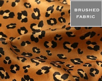 LEOPARD, Brushed fabric,  by Yard, 4 warm colours, 150cm wide