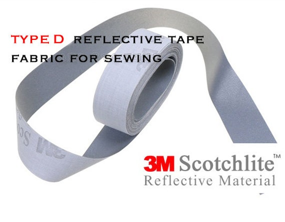 10mm High Visibility Reflective Iron On Multi Purpose Safety Tape 1M // 3M