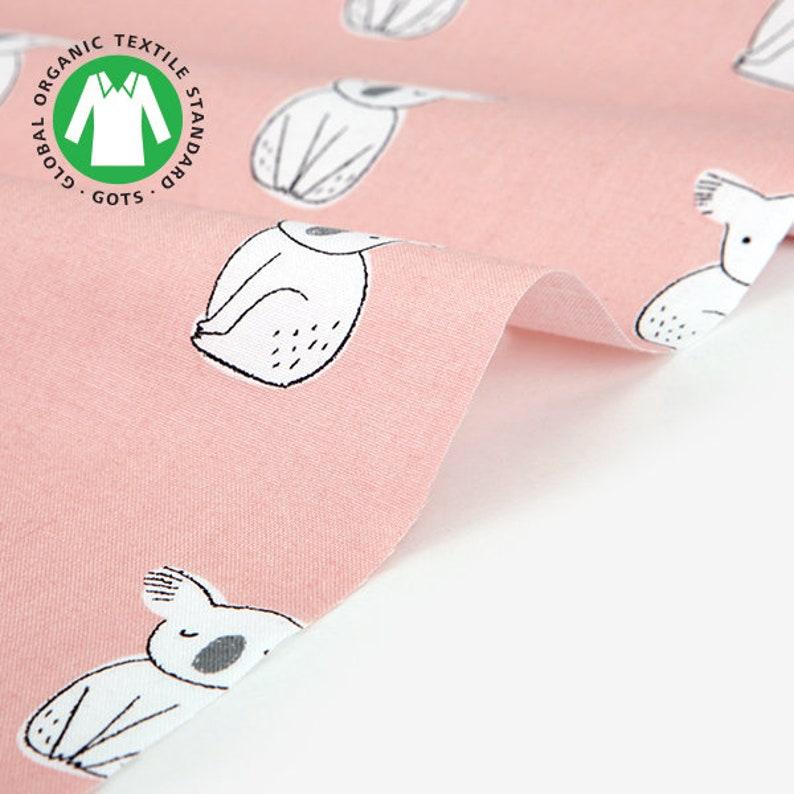 Certified Organic Cotton 100/% fabric by Yard Shy Koala