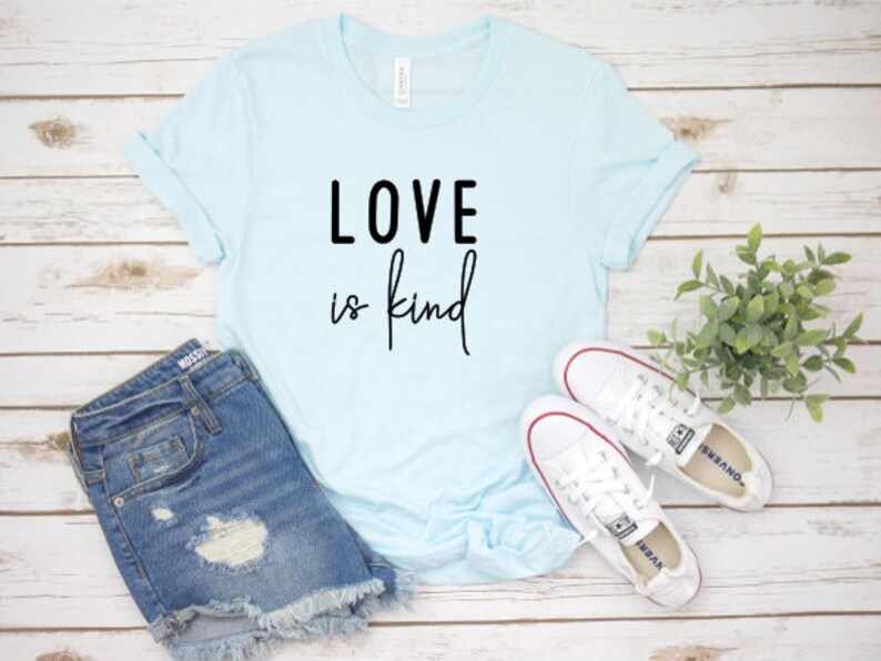 f4dd0132a Love is Kind Love is Kind T Shirt Women's T Shirts | Etsy
