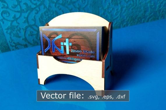 Laser Cut Digitalen Download Visitenkarte Stehen Vektor Datei