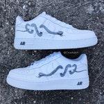 Benutzerdefinierte Nike Air Max 90 Sneakers Knoten Sie Ihre