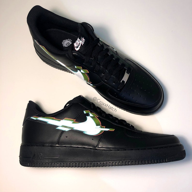 3D Glitch Nike Air Force 1