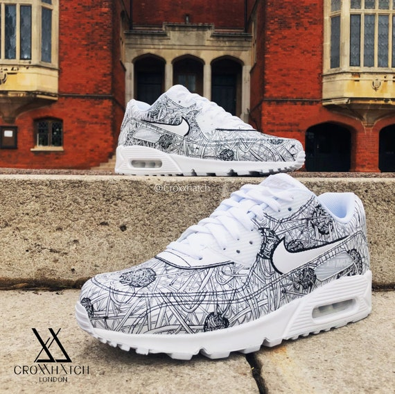 Off White Nike Air Max90 X White ICE Blue Mens shoes,buy