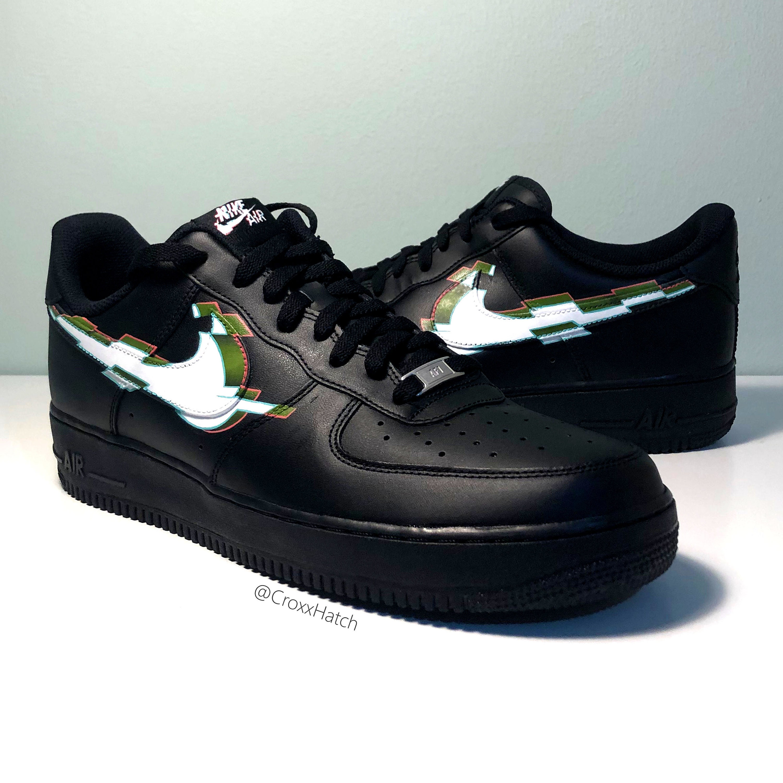 3D Glitch Nike Air Force 1