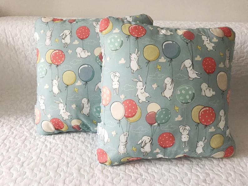 Set of two Hare Pillow Rabbit Cushion Pillow Nursery Decor Kids Room Decor  Decorative Pillow Kids Pillow Baby shower Gift Kids Bedding