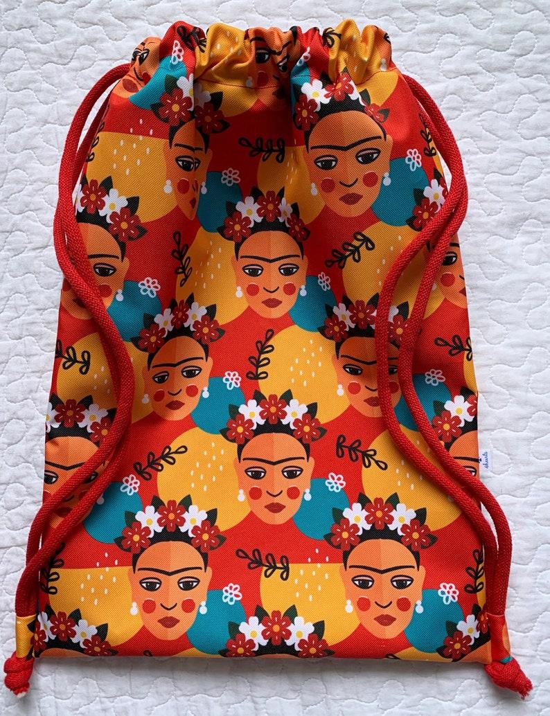 Frida Kahlo Backpack Frida bag waterproof Bag pattern Woman drawstring bag Backpack for woman Woman drawstring bag Mother/'s Day