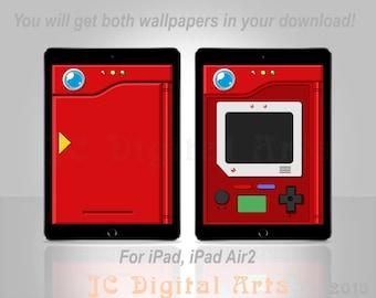 Kanto Pokedex Inspired Wallpaper for iPad, iPad Air 2
