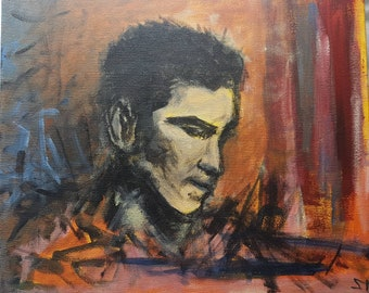 Original Acrylic Painting, Canvas, Expressionist Art, 25cm X 30cm.
