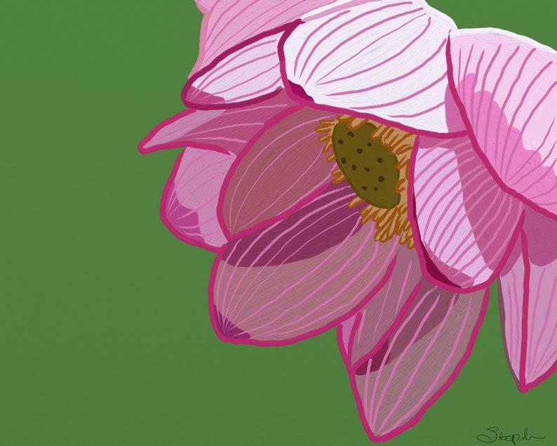 Art Print Of Digital Painting Chinese Water Lotus Chinese Etsy