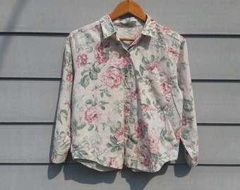 90s floral shirt etsy 90s floral blouse womens size medium yellow pink rose long sleeve shirt flower print shirt 90s aesthetic vintage blouse hipster shirt mightylinksfo