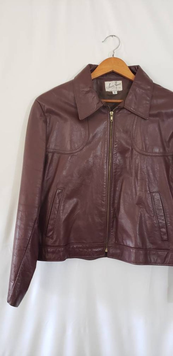 70s / 80s Jean Pierre Leather Jacket Size 44 Reg … - image 3