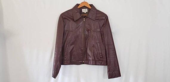 70s / 80s Jean Pierre Leather Jacket Size 44 Reg -