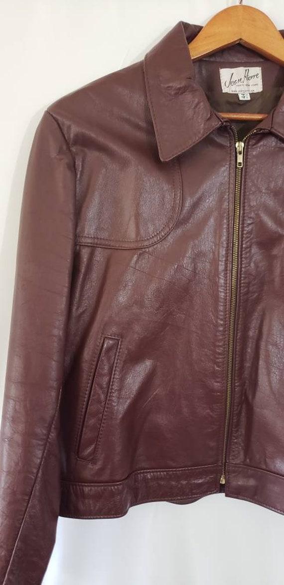 70s / 80s Jean Pierre Leather Jacket Size 44 Reg … - image 2