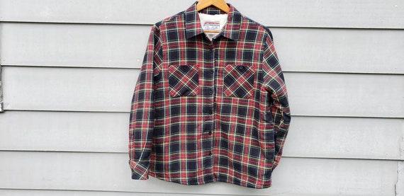 90s Vintage Flannel Shirt Size Large - Rainbow Pla