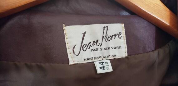 70s / 80s Jean Pierre Leather Jacket Size 44 Reg … - image 6