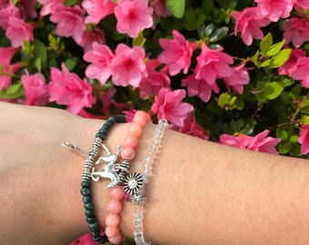 Clear bead sun bracelet