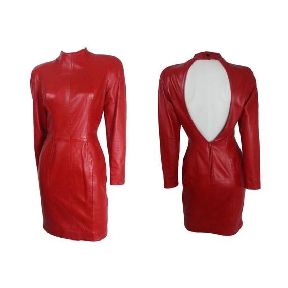 North Beach Leather Michael Hoban Open Back Red Le