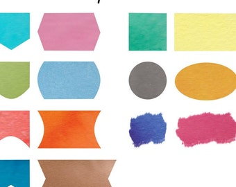 Custom Made Watercolour Printables - Warm colours