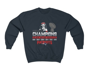 New England Patriots Super Bowl Champions Sweatshirt Tom Brady GOAT  Superbowl LIII Heavy Blend Crewneck Sweatshirt 9580a93f6
