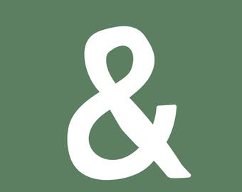Green Ampersand Print