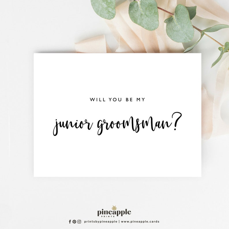 Will you be my Junior Groomsman Cards Wedding Proposal Cards