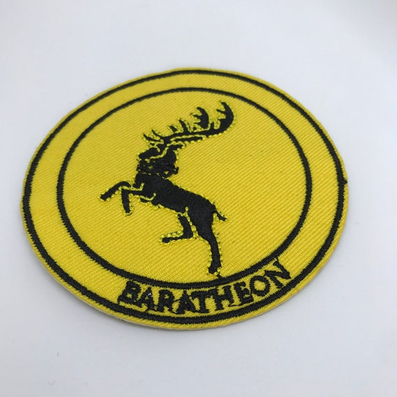 Game Of Thrones Sur Baratheon Fer Coudre Patch Brod/é Cosplay