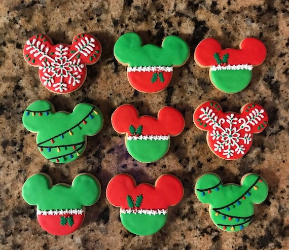Mickey Mouse Christmas Cookies