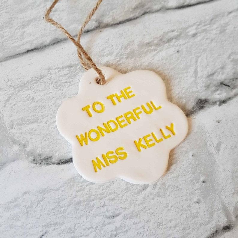 Clay tag Leaving school Teacher card and gift Best teacher card Thank you teacher Teacher card Gifts for teachers