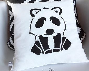 Panda pillow painted brush